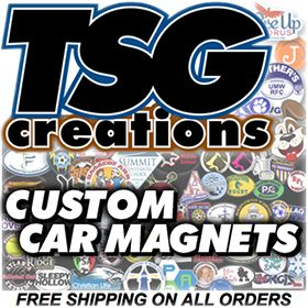 Custom Car Magnets #CarMagnets spread a message & put it on wheels & #promote a #business #sports #Camp. TSG helps do that with #value & #impact. #Magnets, Custom Balls (#customballs #Soccer), & #Decals from http://www.TSGcreations.com & the REAL #tsgsports at http://www.TSGsports.com