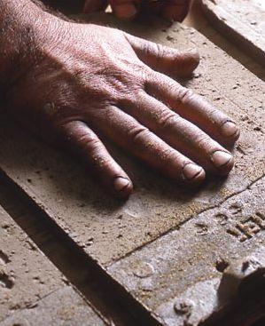 #Handmade and #handprinted tiles!