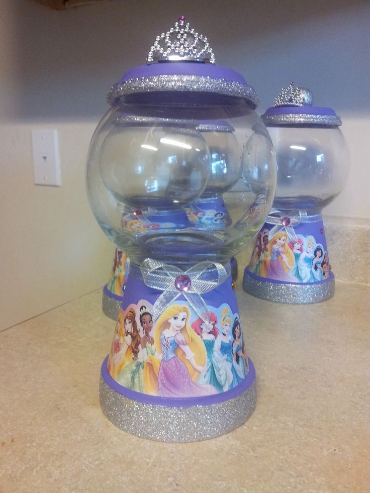 Disney Princess gumball machine (centerpieces)