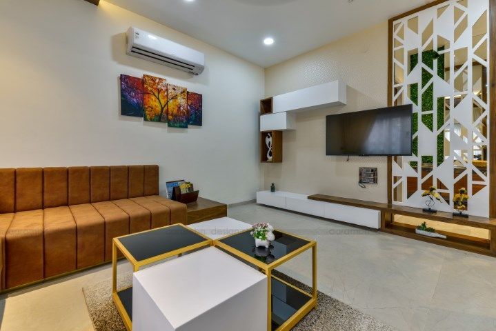 Contemporary Indian House In Indore With Images Indian Living