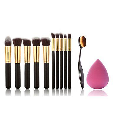 11 Brush Sets Synthetisch haar Professioneel / Beugel / Milieuvriendelijk / Draagbaar Hout Gezicht Overige – EUR € 9.30