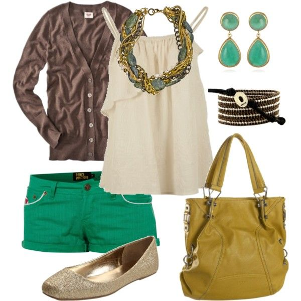 Summer fun: Summer Wear, Summer Outfit, Color Combos, Color Shorts, Dream Closet, Summer Fun, Fun Styles, Android App, Green Shorts