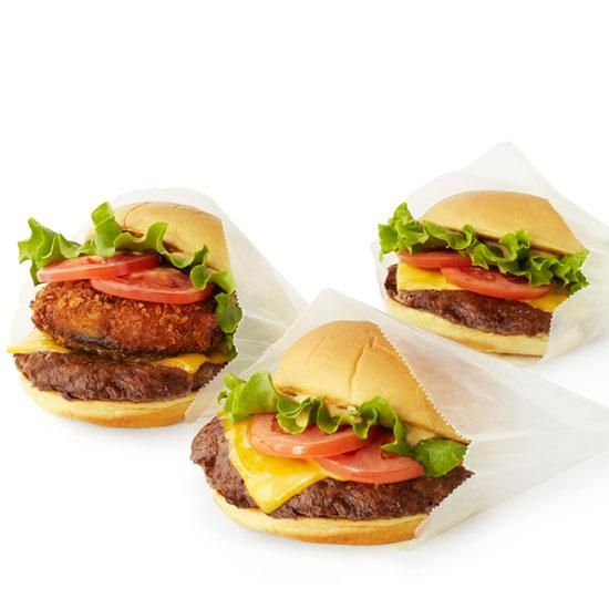 Crazy Over-the-Top Burger: Shack Stack at Shack Stack