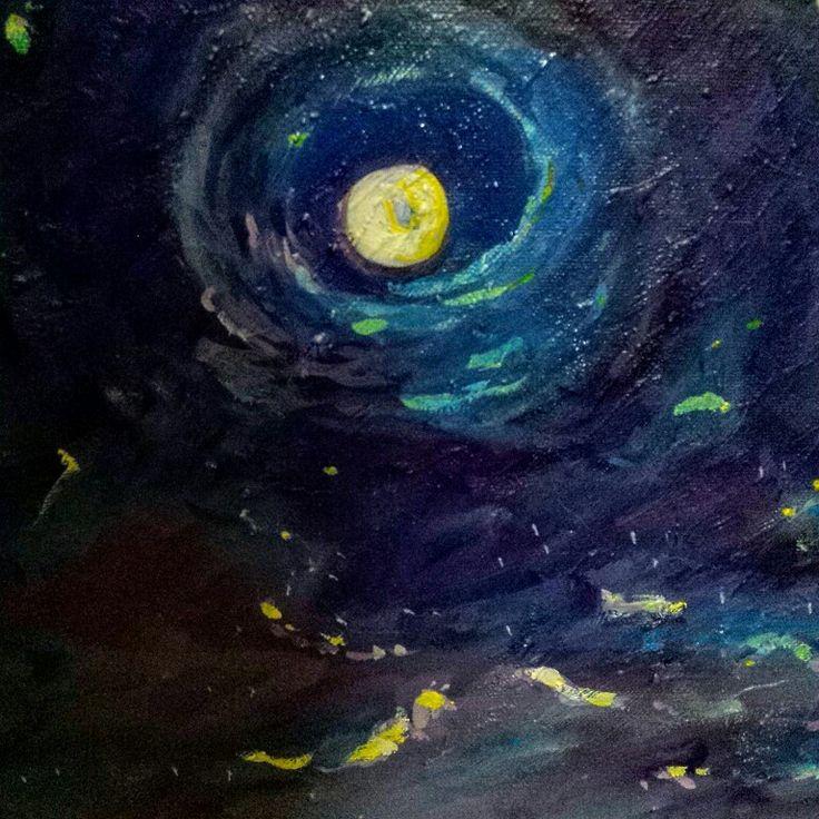 Luna. Particolare da quadro Le Mille e una notte. Agata Bulla