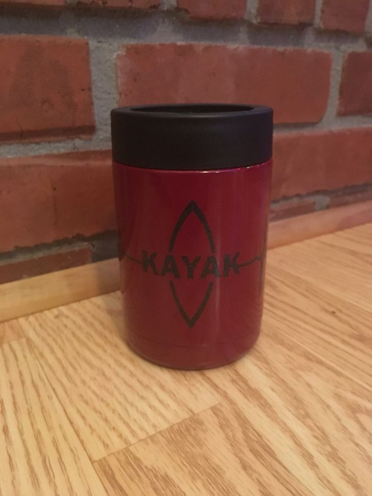 A personal favorite from my Etsy shop https://www.etsy.com/listing/481689032/kayak-love-rtic-can-cooler-yeti-like