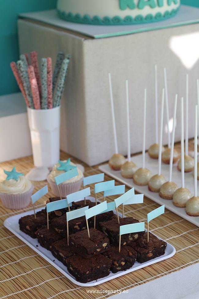 Nice Party mesa de dulces surf sweet table