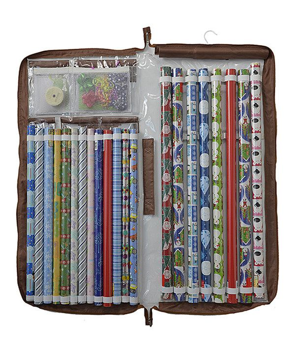 7 best images about xmas storage solutions on pinterest for Vertical gift wrap storage