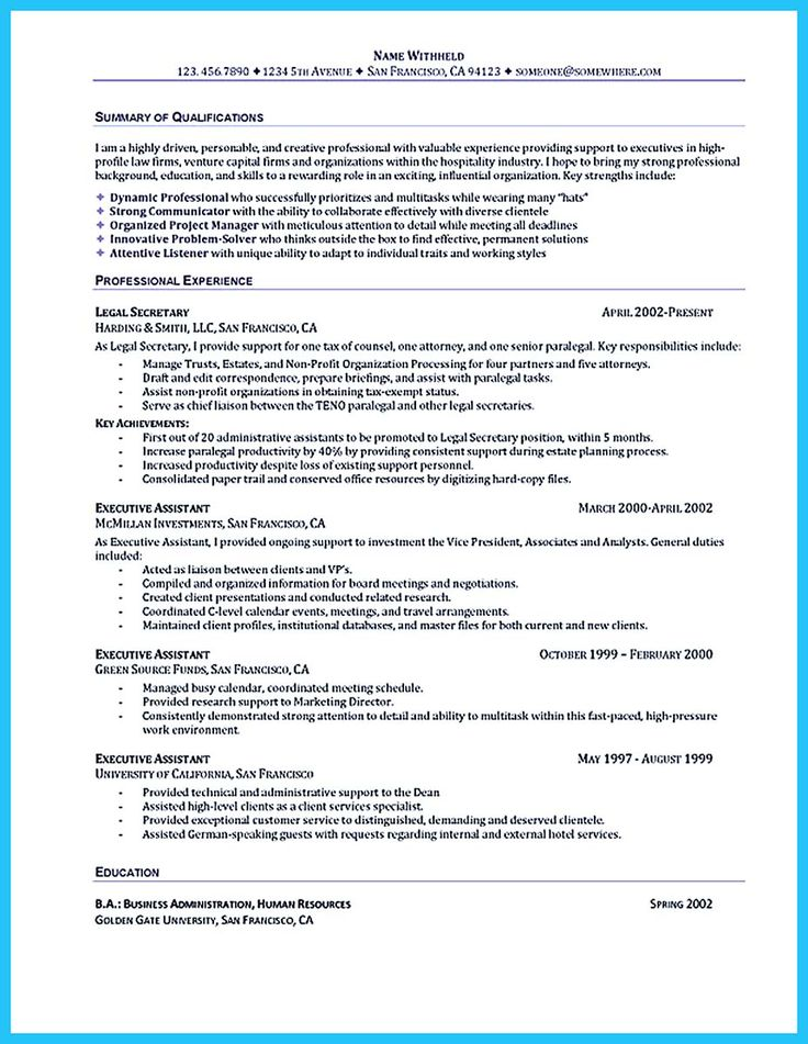 1000  ideas about administrative assistant resume on pinterest