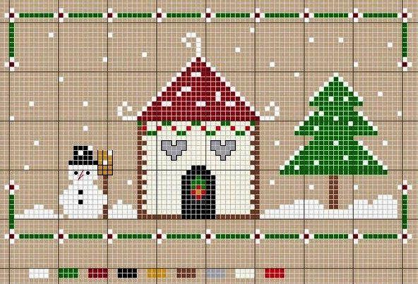 17 migliori idee su punto croce natalizio su pinterest for Schemi di garage gratuiti