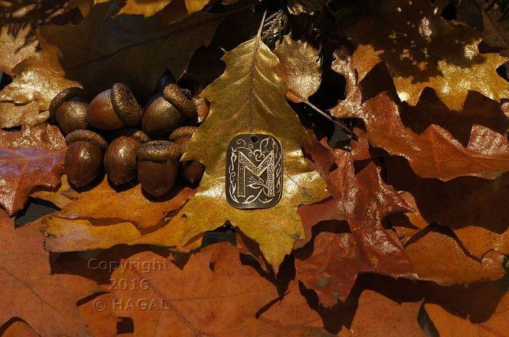 Ehwaz  Rune Amulet Pendant Handmade Brass Wicca Pagan Viking Druid