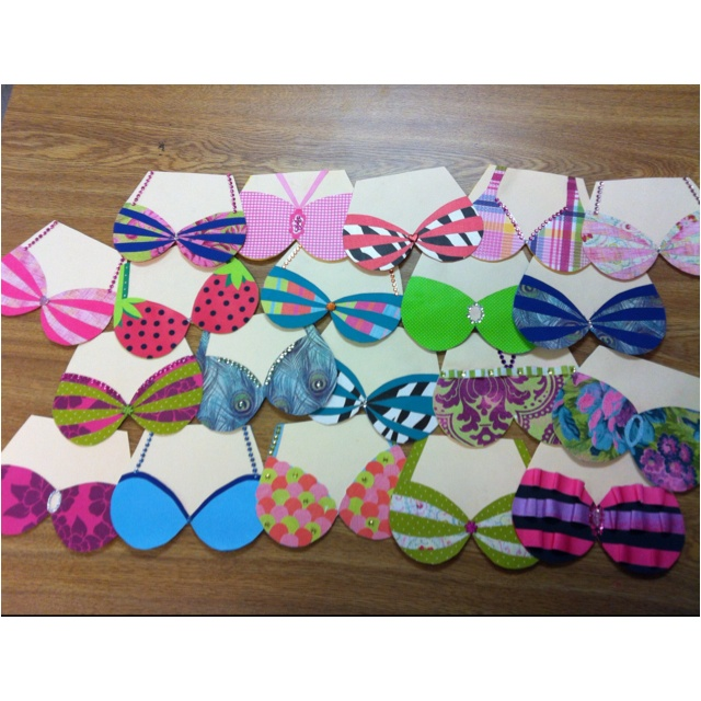 Handmade swimsuit invitations for an adult only girls - Female only swimming pool melbourne ...