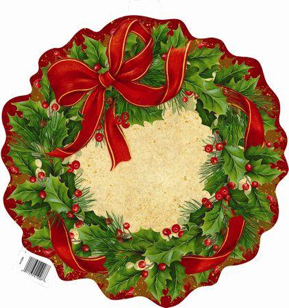 Obojstranná dekorácia Vianočná Party, 42cm
