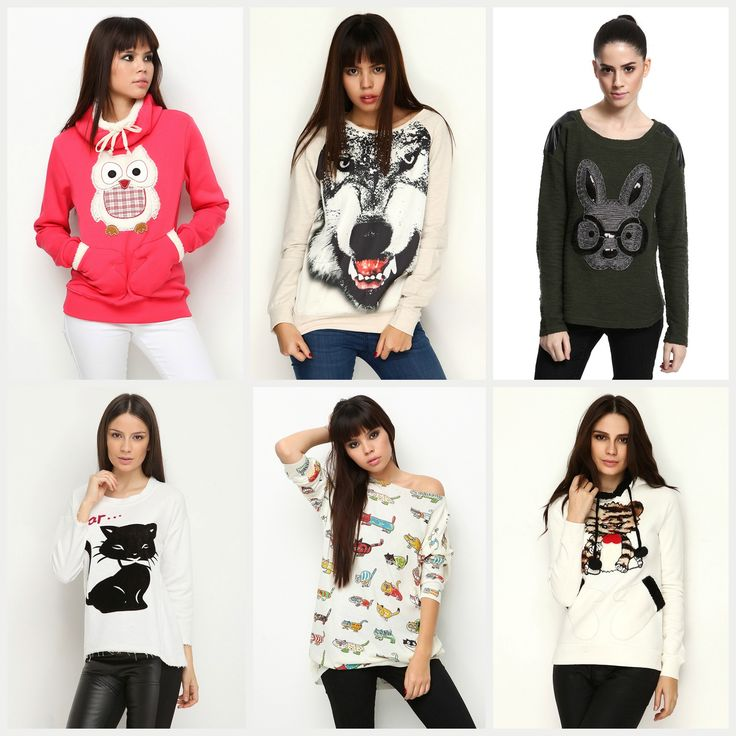 Hayvan baskılı kıyafetler bu sezon favorilerimiz arasında! Eğer siz de bizim gibi düşünüyorsanız, sezonun en şık triko ve bluzları için Kakao kampanyamıza göz atın ;) #animalprint #kedi #kopek #baykus #cat #dog #moda #stil #look #stylish #style #kakao #sweatshirt #casual #owl