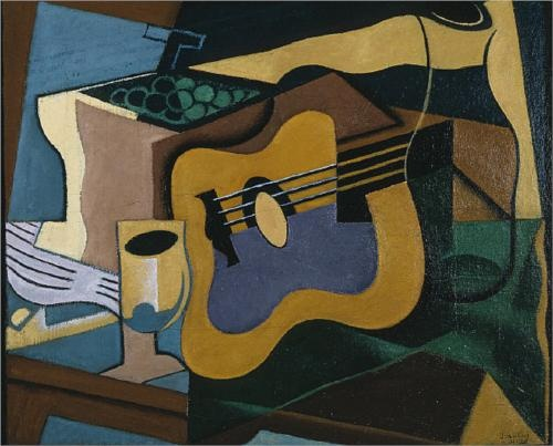 Still Life with Guitar painted by Juan Gris in 1920.