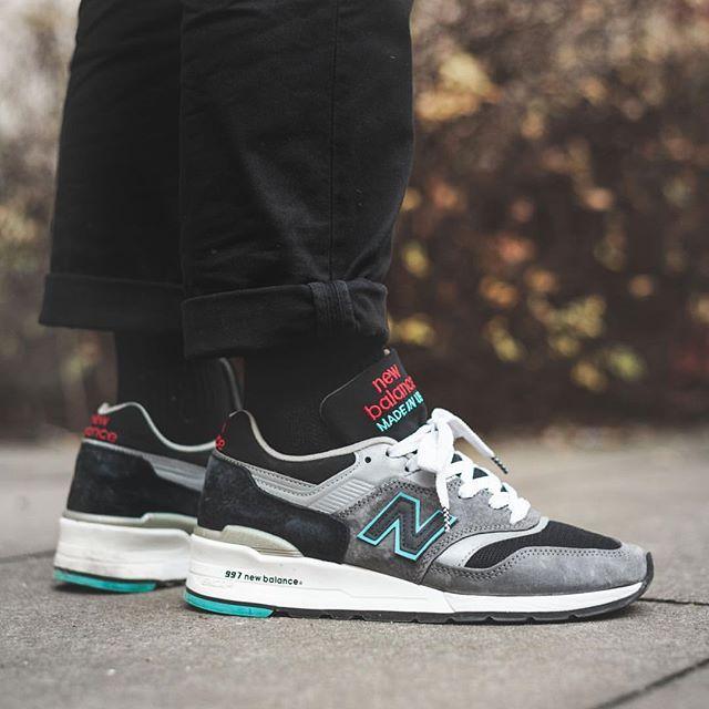 new balance 997 wearing