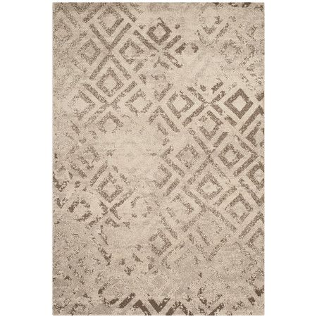 Monterey Rug - loomed with a weathered diamond motif