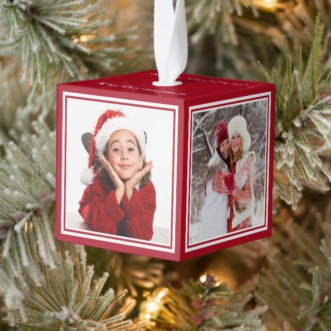 Your Photos Custom Christmas Ornament Zazzle Com Custom Christmas Ornaments Custom Christmas Christmas Ornaments