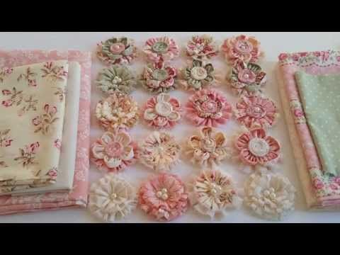 Gorgeous Shabby Chic Fabric Flowers ♡