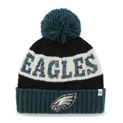 Philadelphia Eagles '47 Brand Women's Swanson Cuff w/Pom Knit Beanie – Green. My favorite NFL team :)