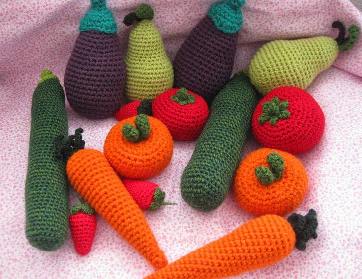 Fruta y verdura de ganchillo