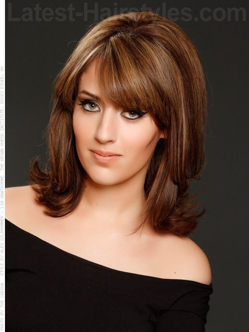 bob haircuts layered shoulder length hair with bangs my next haircut 4264