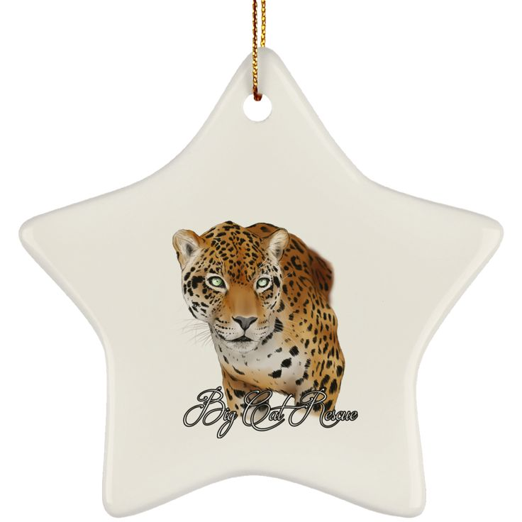 You'll be cat-like when you sport this Manny Jaguar Colo... Please share it! http://catrescue.myshopify.com/products/suborns-ceramic-star-ornament-1?utm_campaign=social_autopilot&utm_source=pin&utm_medium=pin