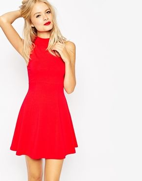 Asos High Neck Empire Dress At Fashion Pinterest Dresses Holiday And