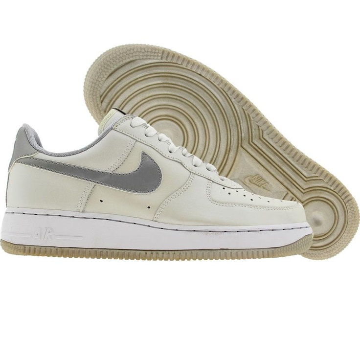 cheap for discount be4f8 94252 ... Nike Womens Air Force 1 Low (white metallic silver) 307109-101 ...