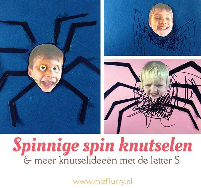 Knutsel een leuke spin met een foto van je kind en bekijk meer knutselideeën…