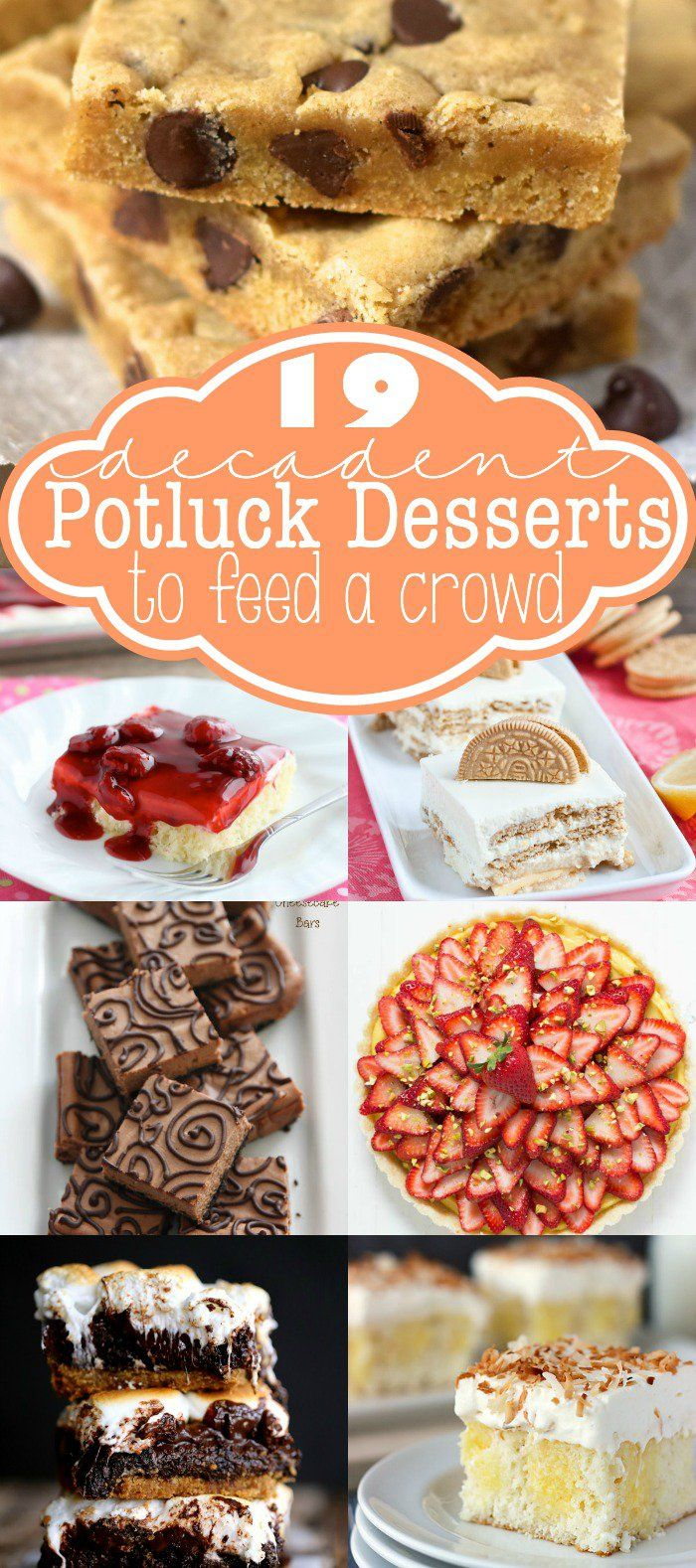 19 Decadent Potluck Desserts to Feed a Crowd