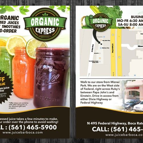 Organic Juice Bar Needs Some Love Postcard Flyer Or Print