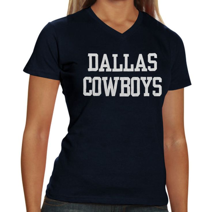 Dallas Cowboys Women's Coaches Too V-Neck T-Shirt - Navy Blue