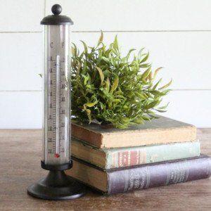 Decorative Black Metal Thermometer