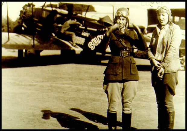 """The famous """"Flying Flapper of Freeport"""" who gained notoriety by flying a Waco 9 biplane under all four of New York City's East River bridges on a dare during the Golden Age of Aviation in 1928, passed away March 19th. Elinor Smith, born, Elinor Regina Patricia Ward on August 17th, 1911, was an ambitious, record-breaking female pilot during the 1920's and '30's."""