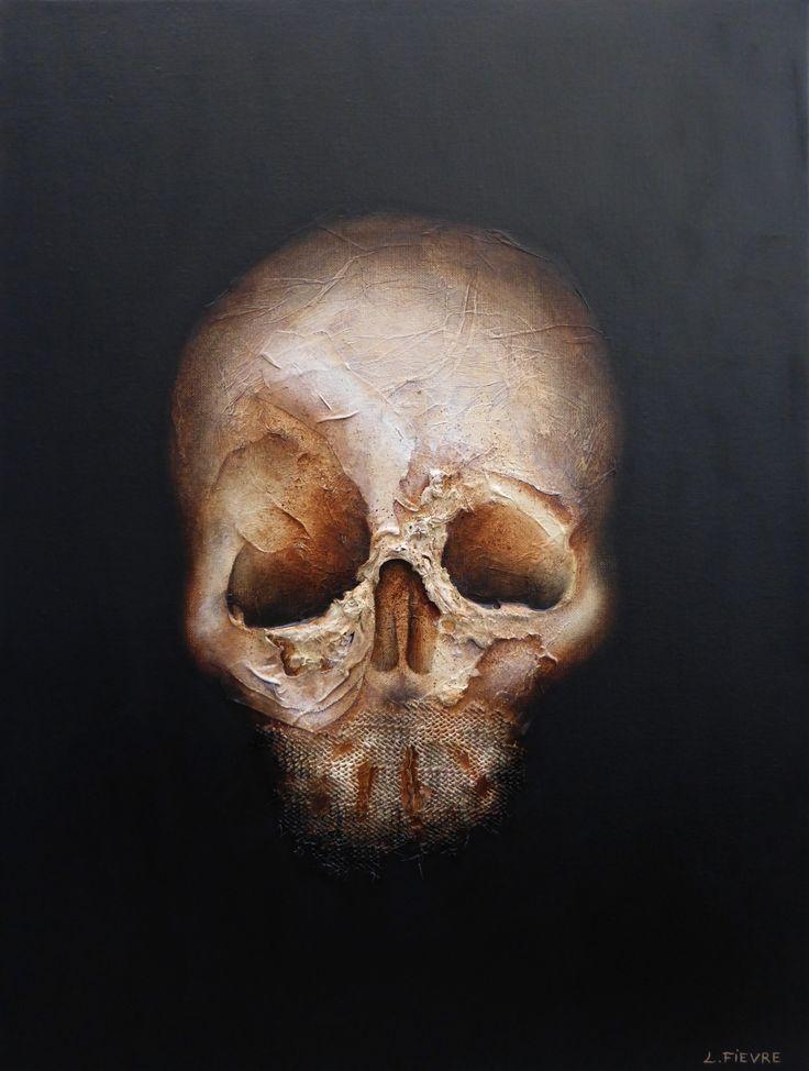Anonyme 04 © Laurent Fièvre - Canvas (acrylic, rope, fabric, silk paper) - 61 x 46 cm - 14/11/2014
