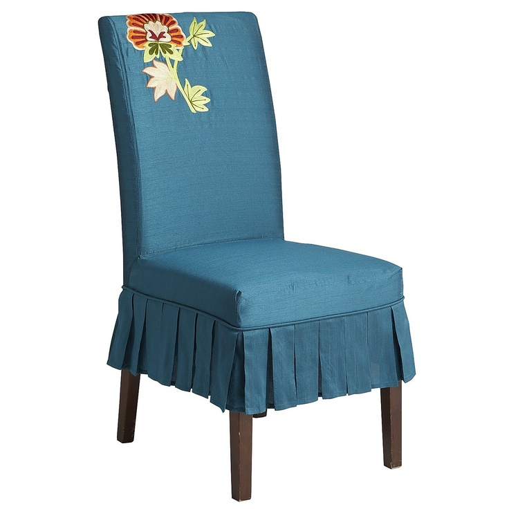 dana slipcover teal floral home sweet home pinterest teal