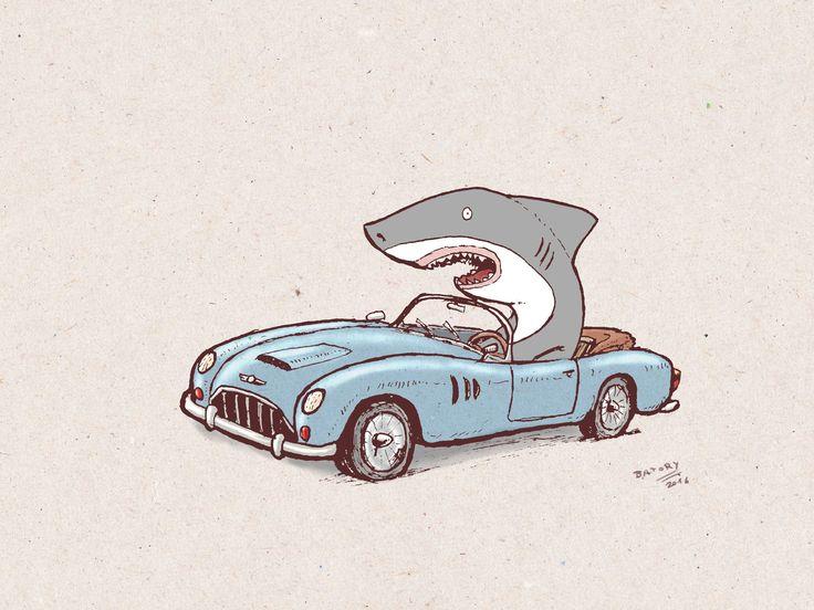 Creature cars. Shark in a car :)