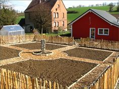 Foto: Blick in den Bauerngarten von oben