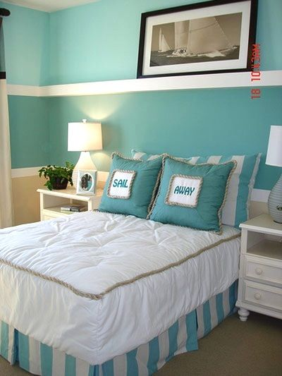 beachy bedrooms one color and a few accessories can transform a room into a beachside - Bedroom Room Colors