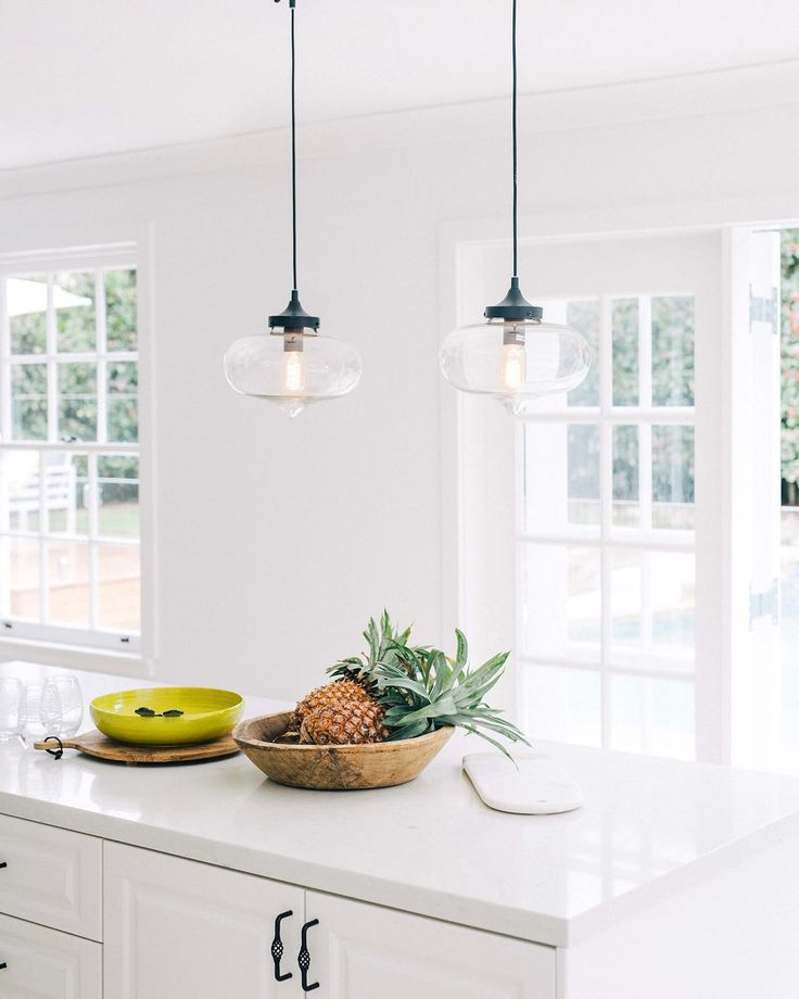 The reno queens from Three Bird Renovations know exactly how to style a room with our Clear Laurent Pendant Lights