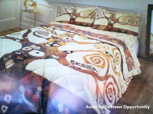 AVON TENEREZZA CASA - * Scegli un' opera d'arte per il tuo letto * Collezione  - ALBERO DELLA VITA - Lasciati trasportare tra i rami dorati di questa opera d'arte . Vivine il significato e arreda la tua camera con il grande capolavoro di Klint. COLLEZIONE IN OFFERTA LANCIO SU AVON C12 - - ALBERO DELLA VITA Made in Italy - * TRAPUNTA MATRIMONIALE  99€ anziché 136€ * COMPLTO LETTO MATRIMONIALE  Lenzuolo sopra  - lenzuolo sotto con angoli - Coppia di federe a sacco - 69€ anziché 85€