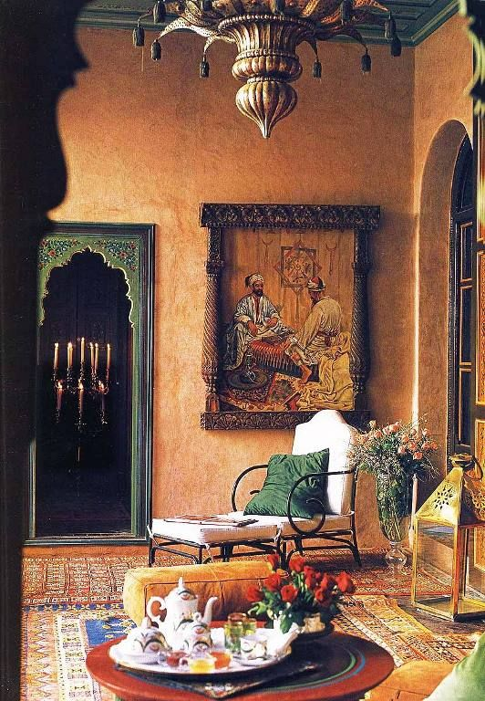 Villa kadiri marrakech maharaja meets harem moroccan for Interior decoration home indian style