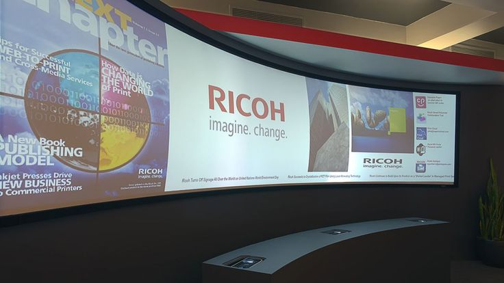 Ricoh releases a mobile digital signage solution for curved surfaces | The new solution is designed to calibrate multiple images on one screen, regardless of the surface's shape. Buying advice from the leading technology site