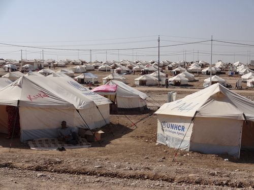Christian evangelist who believes Iraqi refugees need bibles far more than they do food and shelter. The last thing people these people need is a Bible. They are struggling to survive. They need shelter. Replacing their religion with another kind of fiction won't do anything to improve their situation.