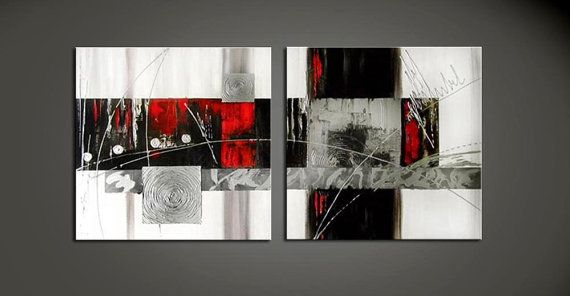 ABSTRACT PAINTING SILVER  Painting Original Canvas by ArtCCarol