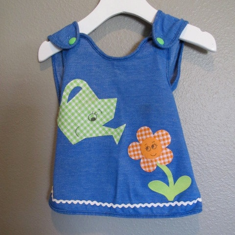 Vintage Carters applique flower baby top by DroolINC on Etsy, $12.00
