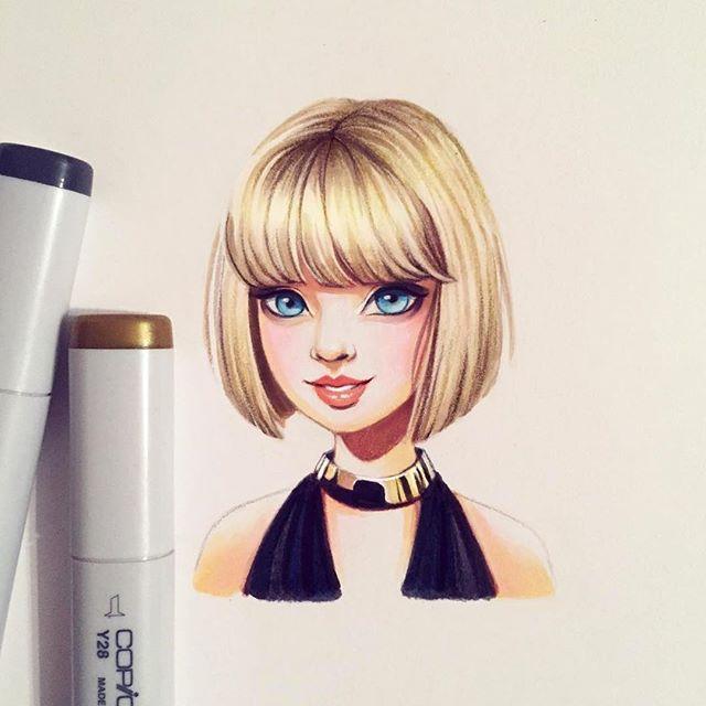 Dazzling drawing, swiftly done by @lera_kiryakova
