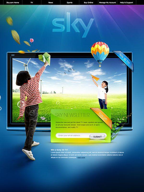 Sky – Web Layout by detrans