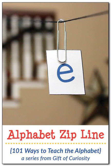 Alphabet Zip Line | Teaching letters in fun ways | Teaching the alphabet in creative ways || Gift of Curiosity