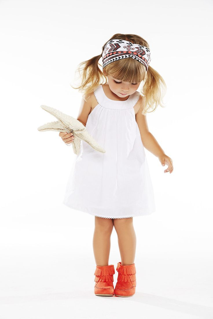 Kids Fashion | white dress and tribal headband combo